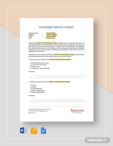 restaurant-customer-service-survey-template