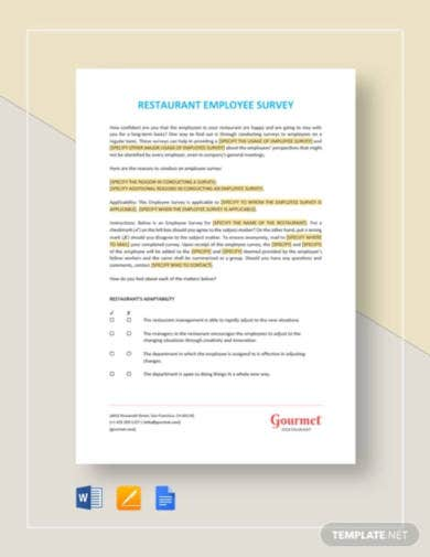 restaurant-employee-survey-template
