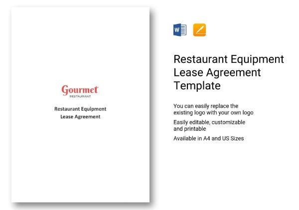 restaurant equipment lease agreement1