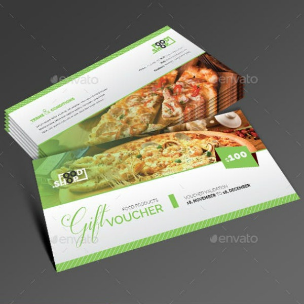 Restaurant Food Gift Voucher Certificate