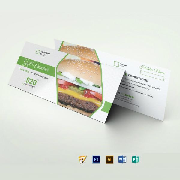 restaurant food gift voucher format