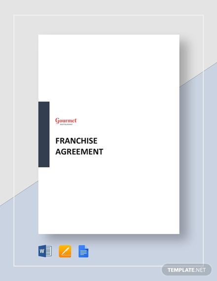 restaurant franchise agreement