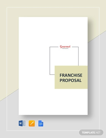 restaurant franchise proposal template