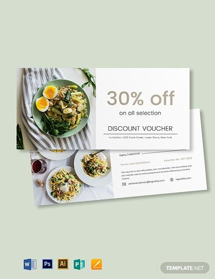 restaurant gift voucher card format