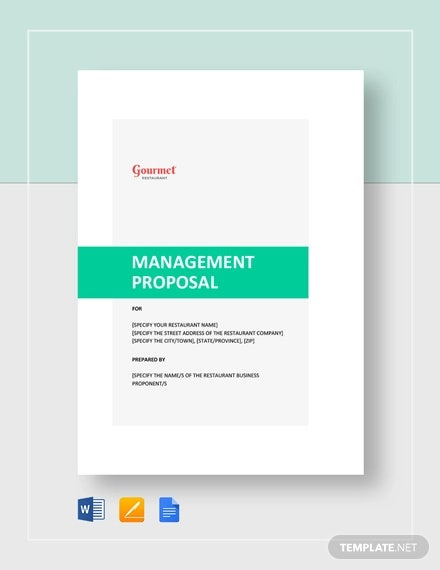 restaurant management proposal template