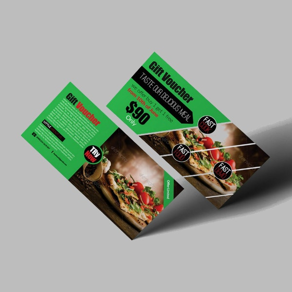 restaurant meal voucher gift certificate