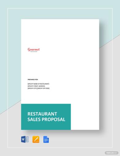 restaurant sales proposal template1