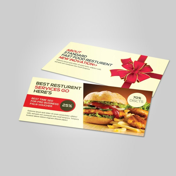 restaurant services food voucher template