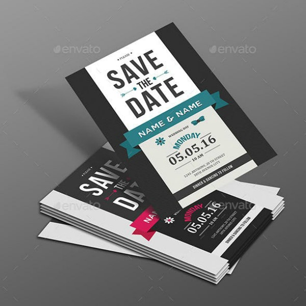 Retro Save the Date Wedding Example