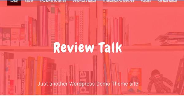 review talk topography wordpress theme