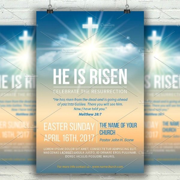 Risen Easter Sunday Poster Sample