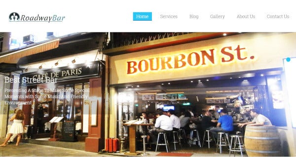 roadwaybar jquery wordpress theme
