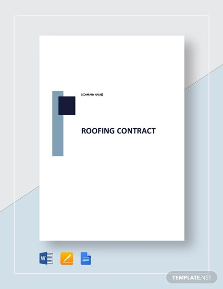 Free 15 Roofing Contract Templates In Ms Word Pdf Google Docs Pages Free Premium Templates