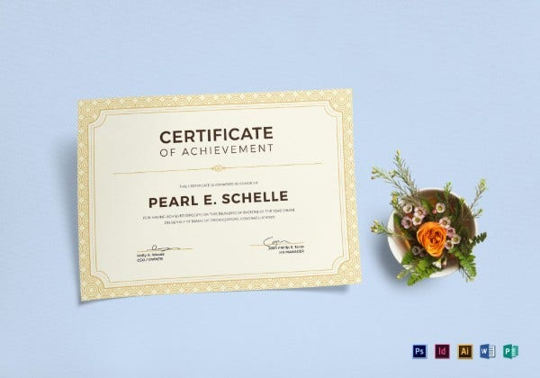royal scroll certificate template mockup