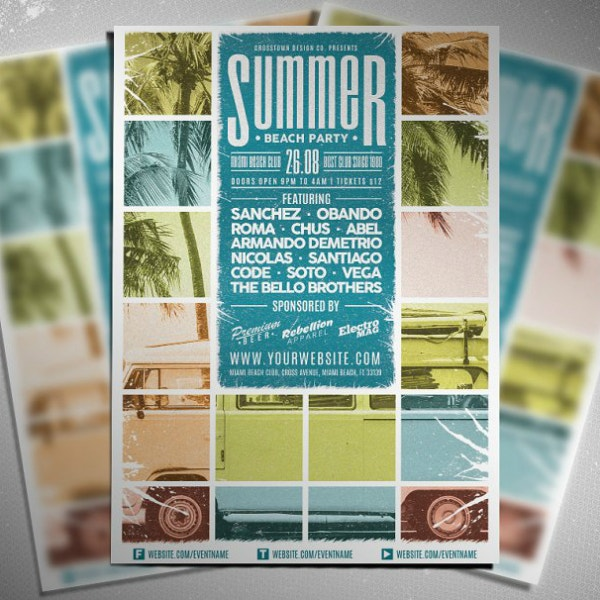 rustic collage beach flyer format