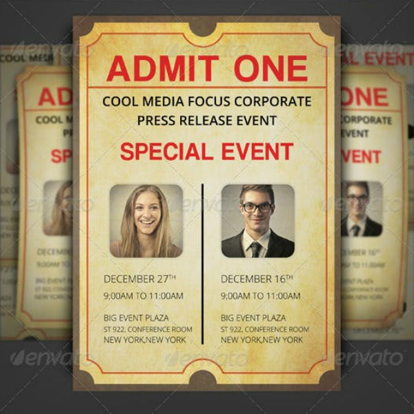 rustic corporate ticket invitation layout