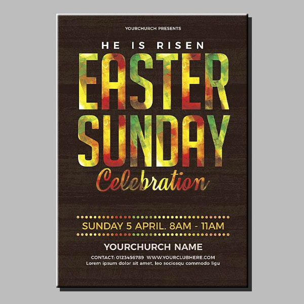 Rustic Easter Celebration Poster Template