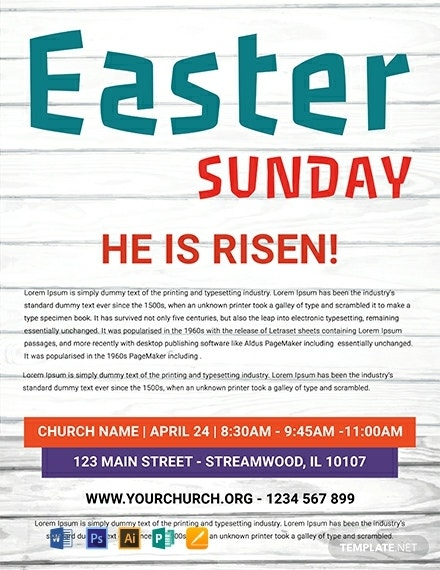 rustic easter sunday flyer example
