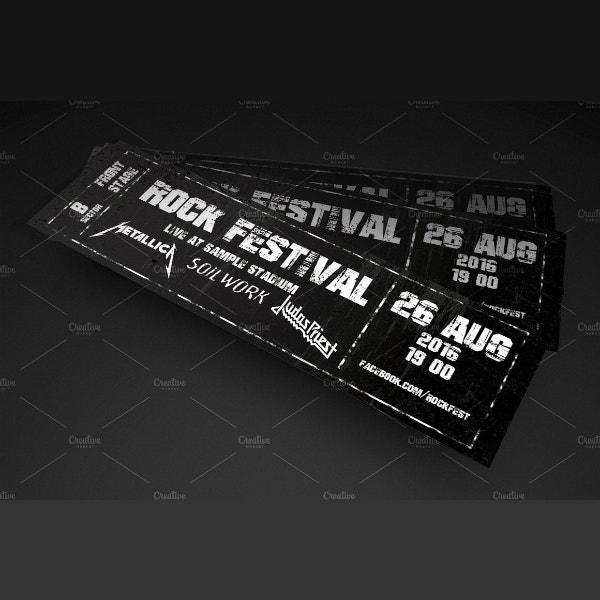 Rustic Rock Festival Ticket Layout