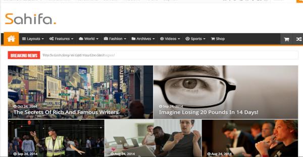sahifa – woocommerce plugin wordpress theme