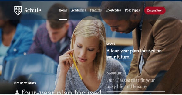 schule html5 and css3 wordpress theme