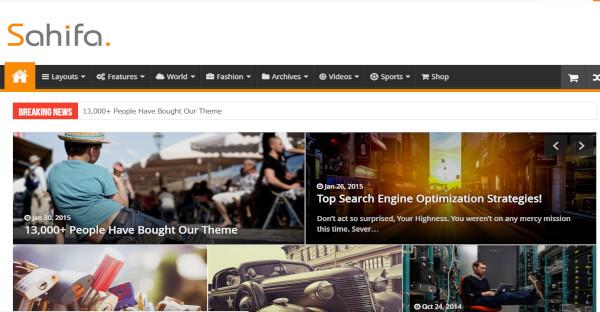 Sahifa – Responsive WordPress Theme
