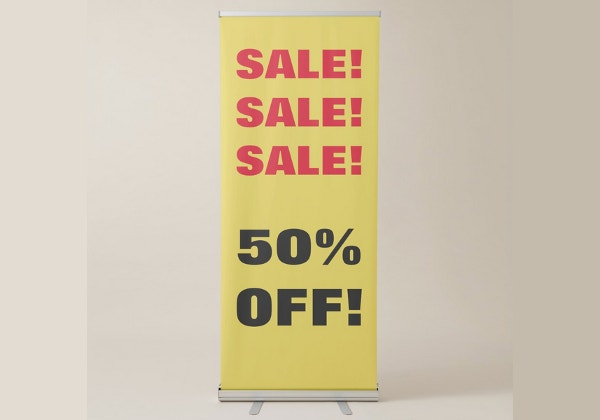sale advertising banner example