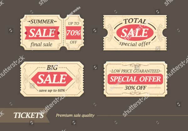 sale ticket design