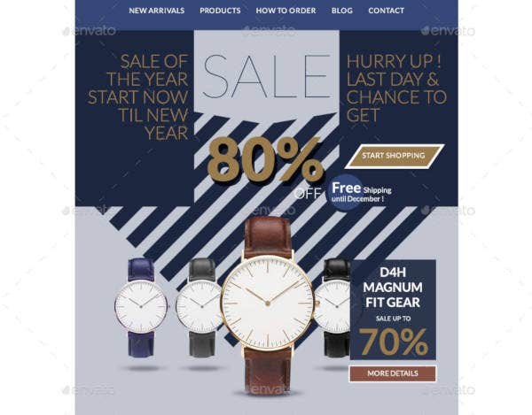 sale and promotional e newsletter