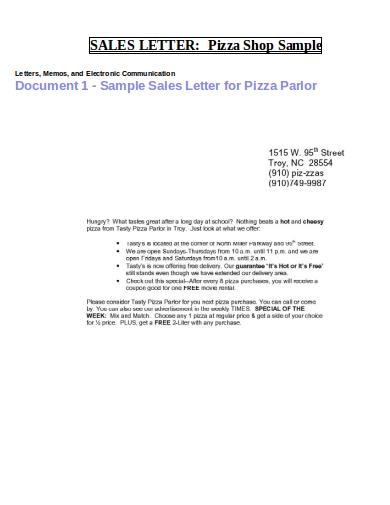 sale letter template format