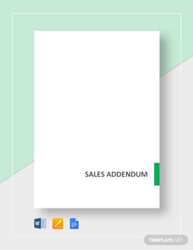 sales-addendum-template