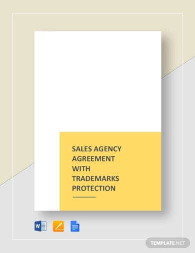 sales agency agreement with trademarks protection