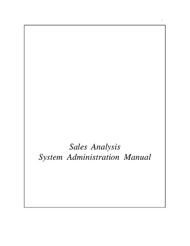 sales analysis system template