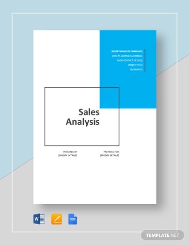sales anlysis template