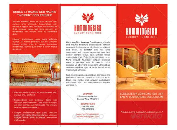 sales brochure template example