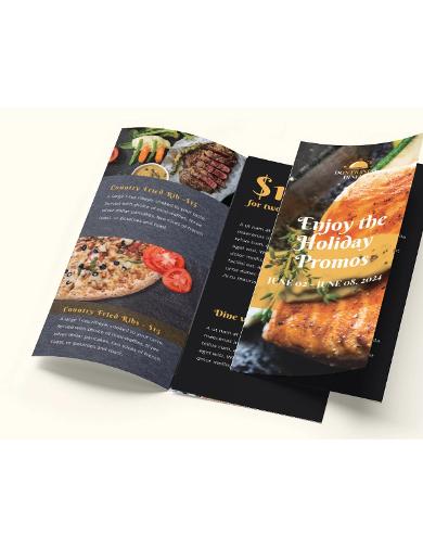 sales promotion brochure template