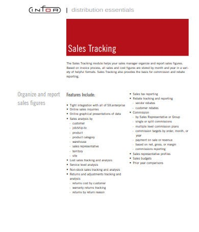 sales tracking template