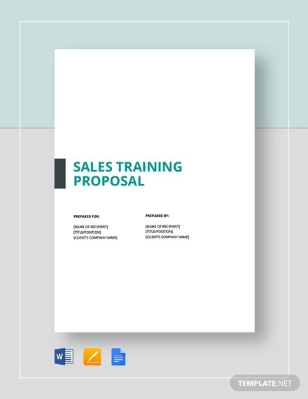 sales training proposal1