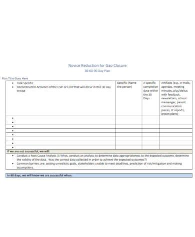 sample 30 60 90 day sales plan