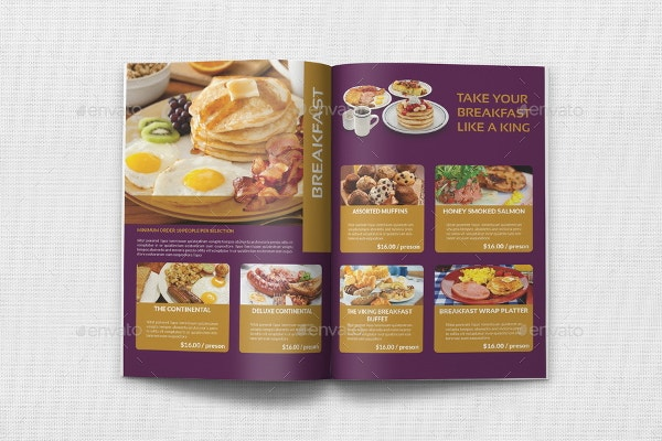 sample catering brochure
