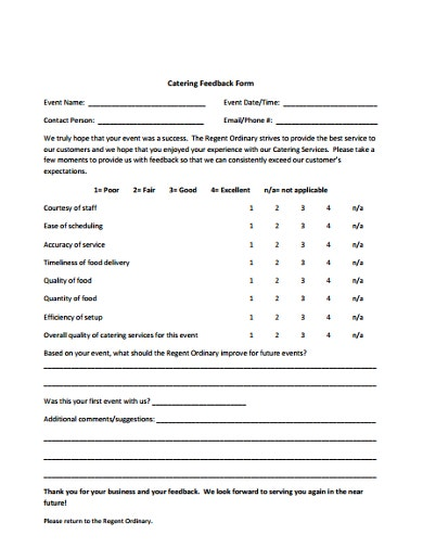 sample-catering-feedback-form