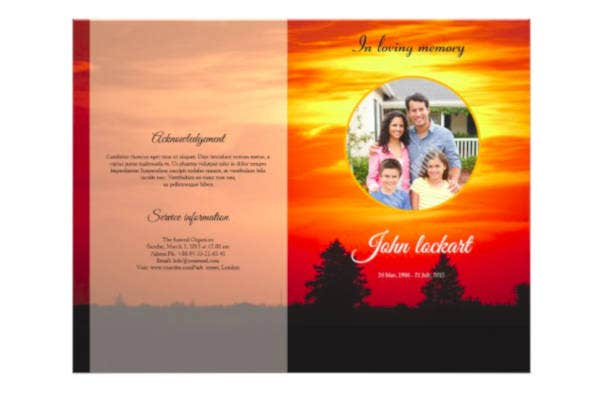 Sample Funeral Brochure Template