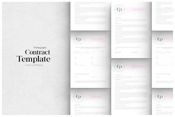 sample photographer contract template