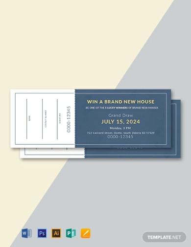 sample raffle ticket template
