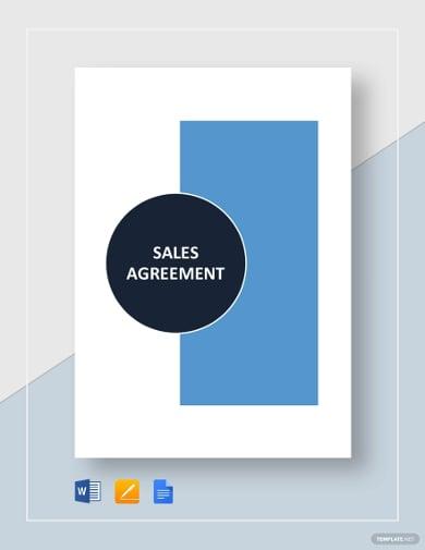 sample sales agreement template