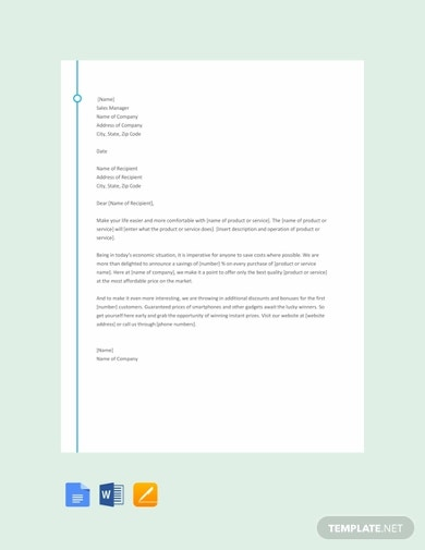 sample sales letter template1