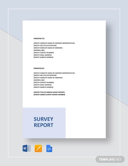 sample survey report template