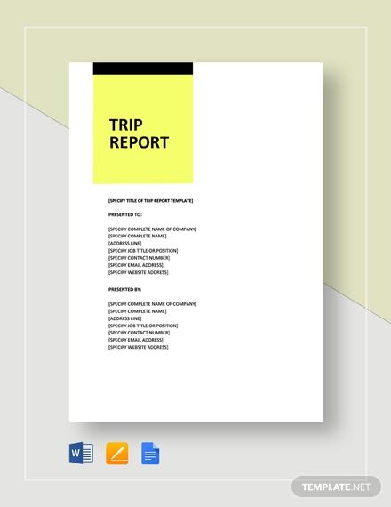 sample trip report