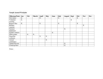 sample work plan formats 1