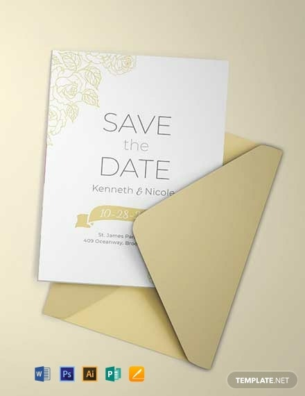 save the date wedding invitation layout